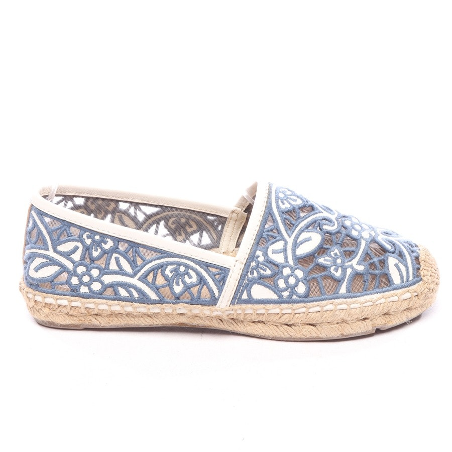 loafers from Tory Burch in petrol and white size EUR 36,5 US 6