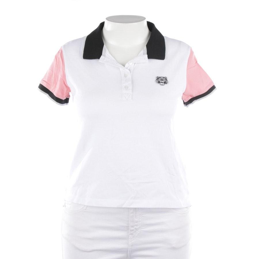 Poloshirt von Kenzo in Weiß und Rosa Gr. L