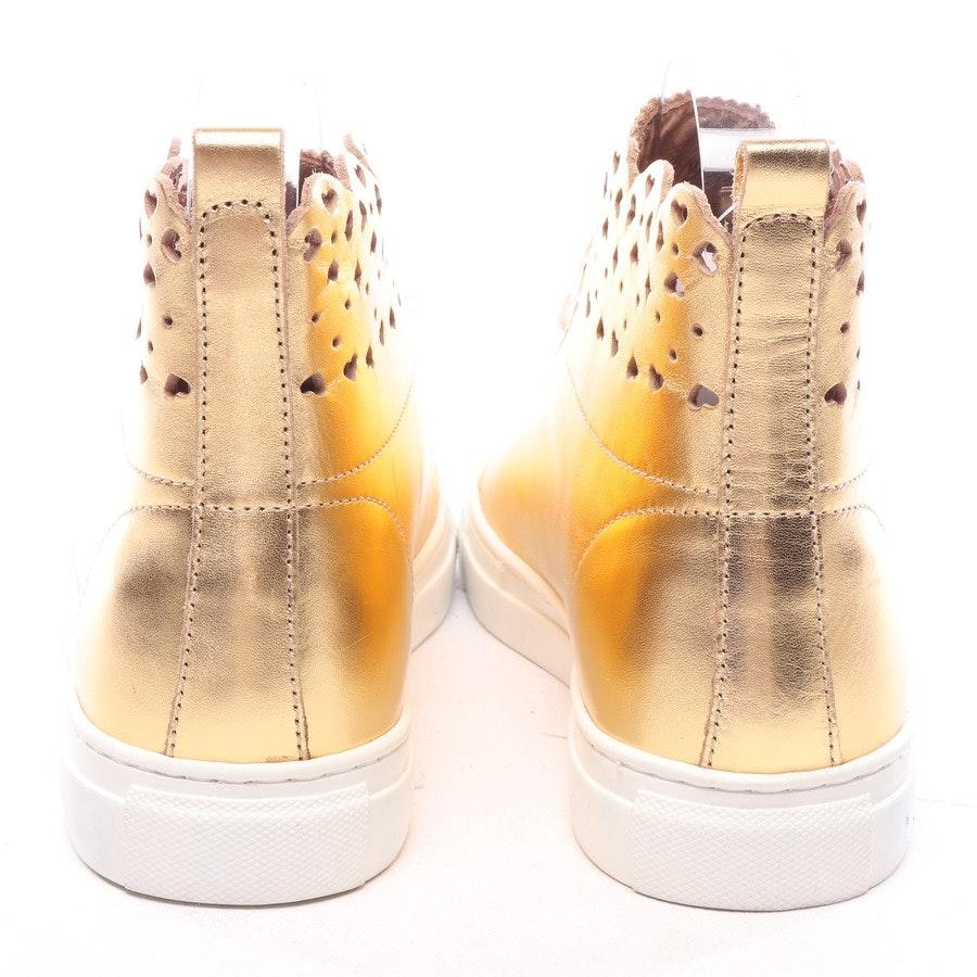 High-Top von Twin Set in Gold und Weiß Gr. EUR 37 - Neu