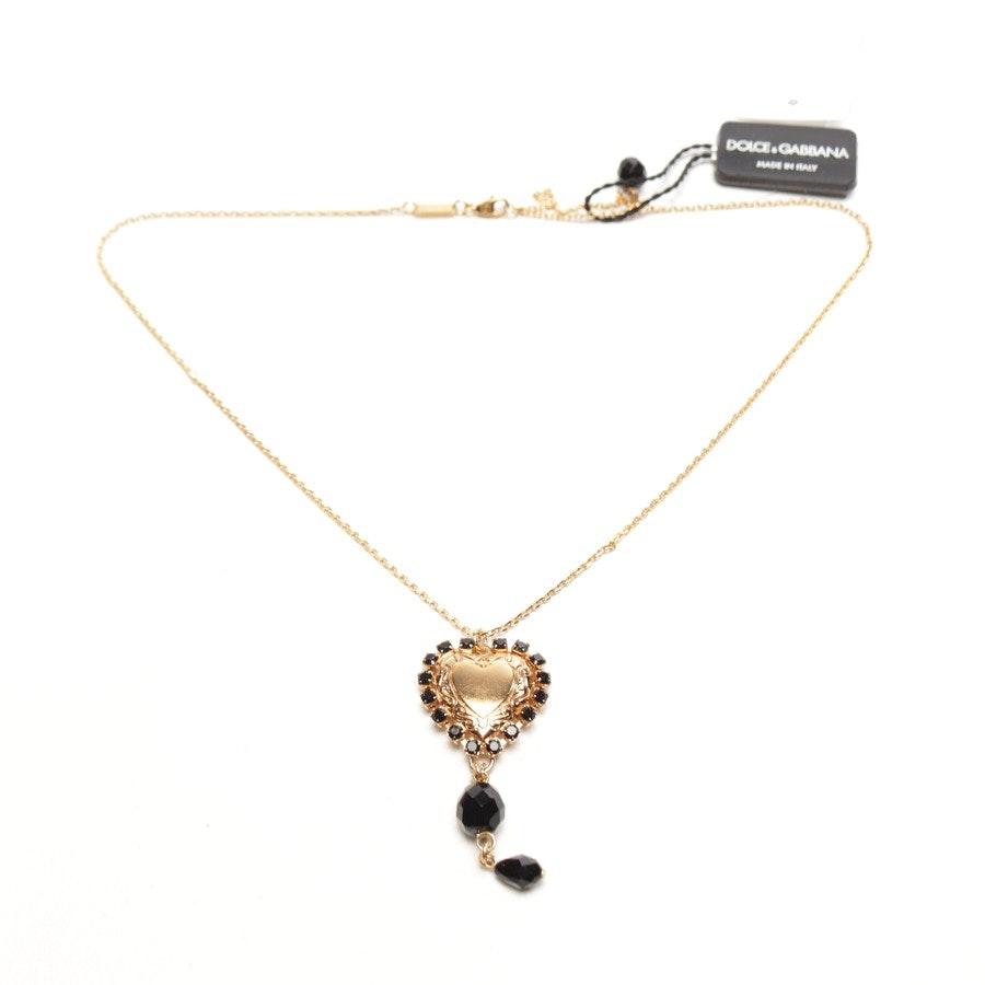 Kette von Dolce & Gabbana in Gold und Schwarz - Neu