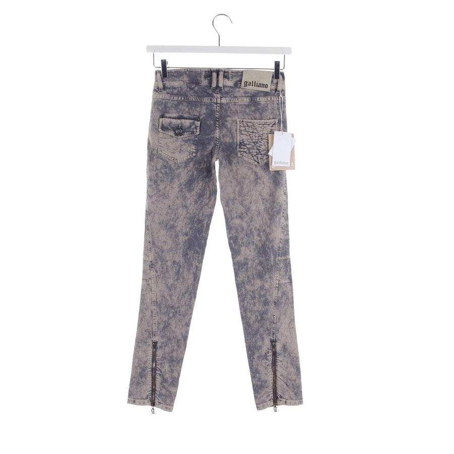 Jeans von John Galliano in Graublau und Beige Gr. W26 - Neu