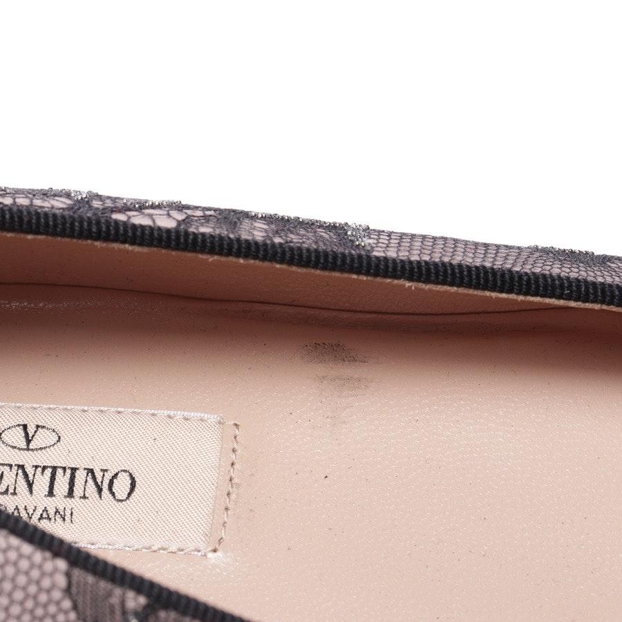 Ballerinas von Valentino in Rosé und Schwarz Gr. EUR 37