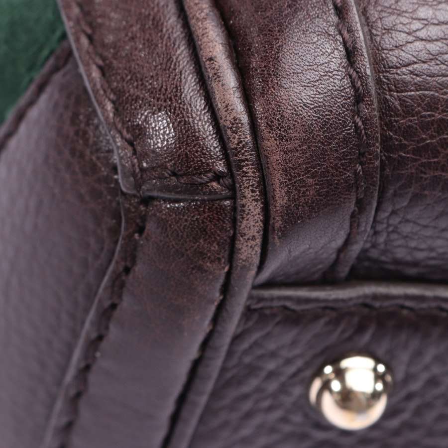 handbag from Gucci in dark brown and multi-coloured