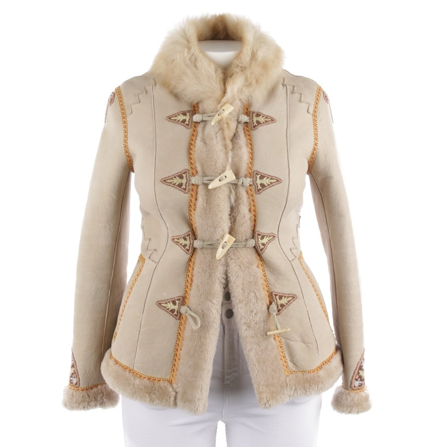 leather jacket from Polo Ralph Lauren in beige grey size 38 US 8