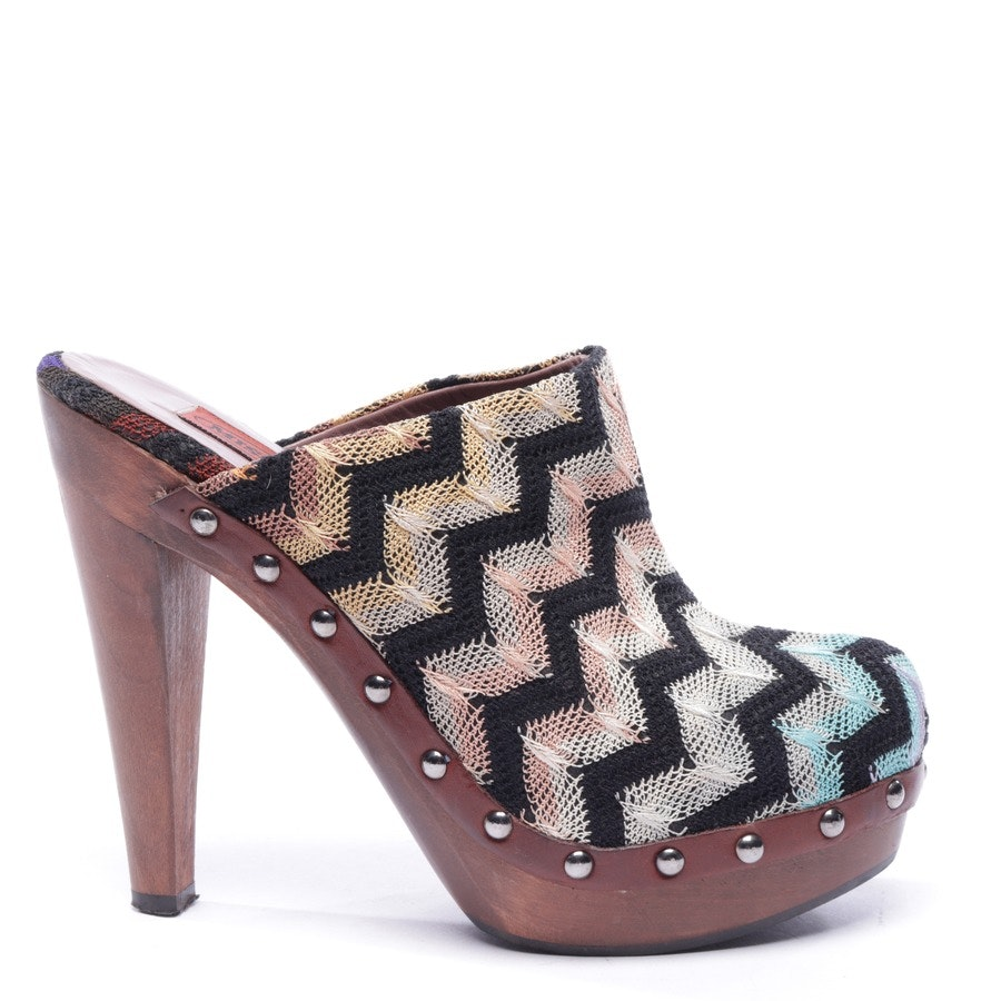 pumps from Missoni in brown and multicolor size EUR 37