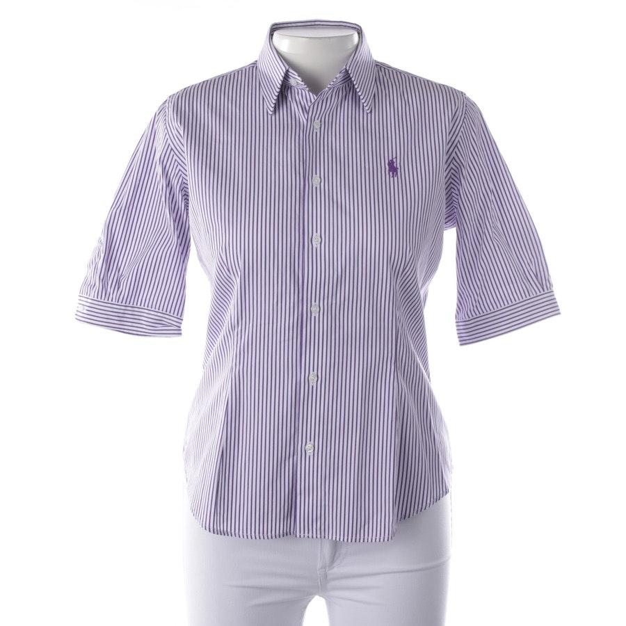 Bluse von Polo Ralph Lauren in Lila und Weiß Gr. 38 US 8