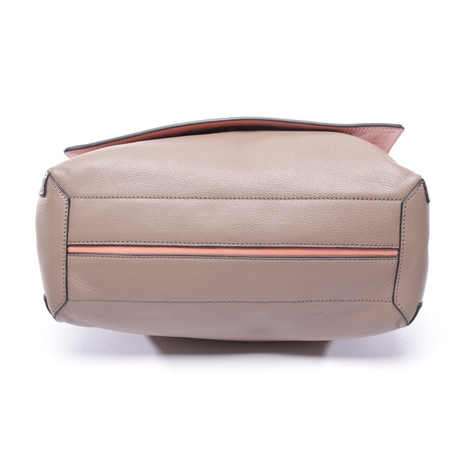 handbag from Coccinelle in taupe and orange