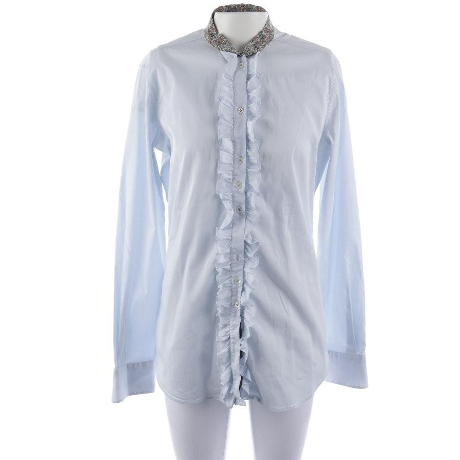 Bluse von Aglini in Hellblau und Multicolor Gr. 42 IT 48