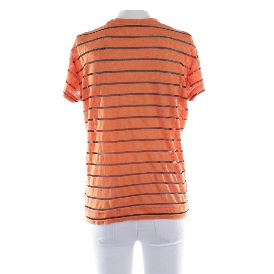 T-Shirt von By Malene Birger in Orange und Schwarz Gr. S