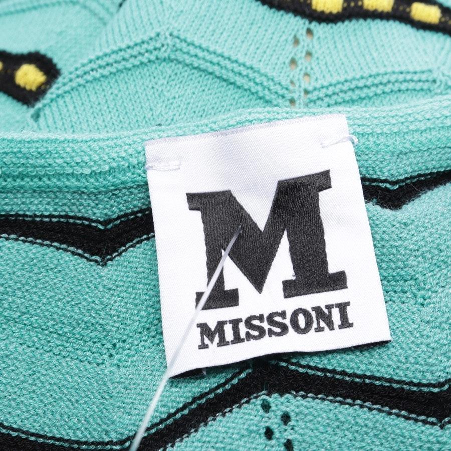 Maxikleid von Missoni M in Türkis und Schwarz Gr. 34 IT 40