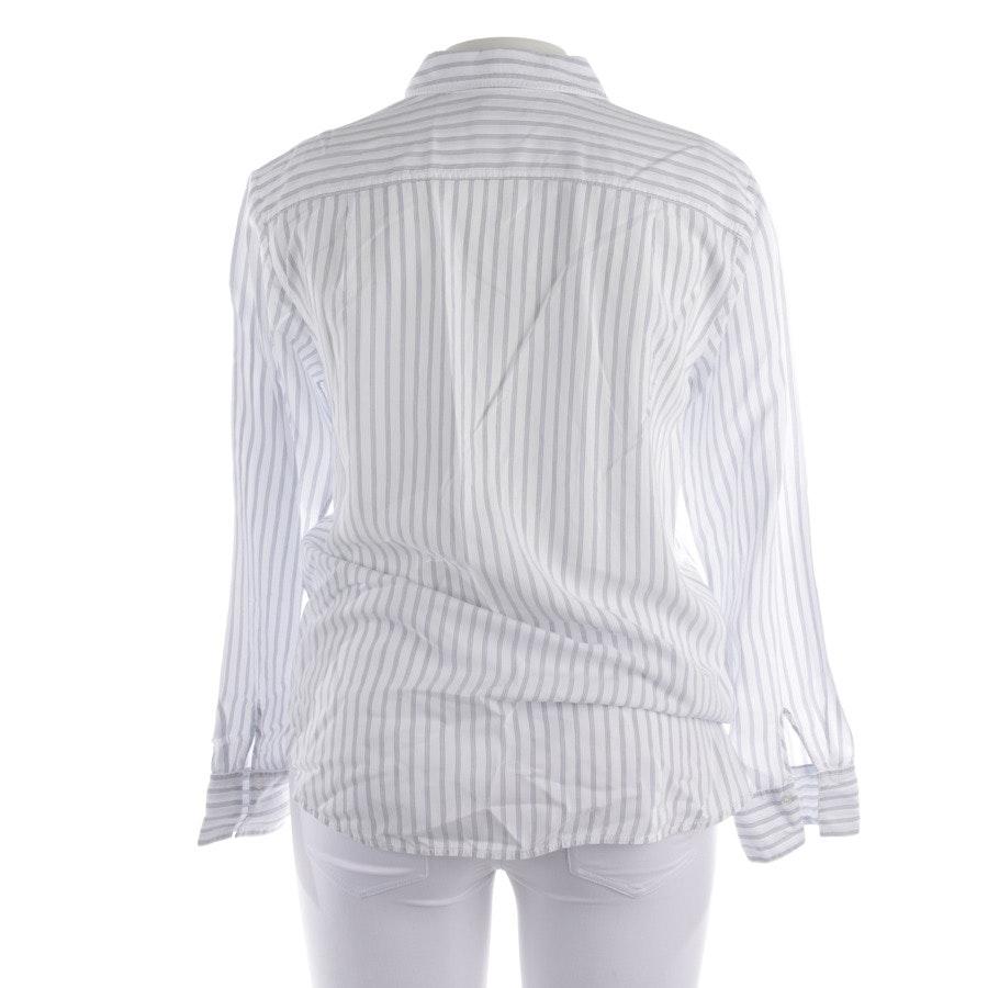 Bluse von Marc O'Polo in Weiß und Blau Gr. 40