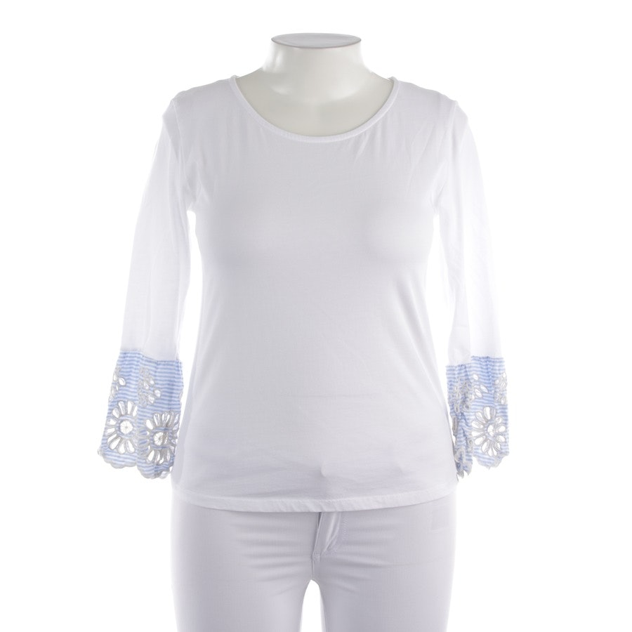 Longsleeve von Rich & Royal in Weiß und Blau Gr. L