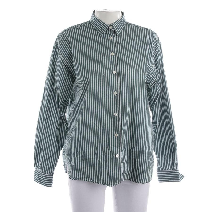 Bluse von Closed in Waldgrün und Weiß Gr. M