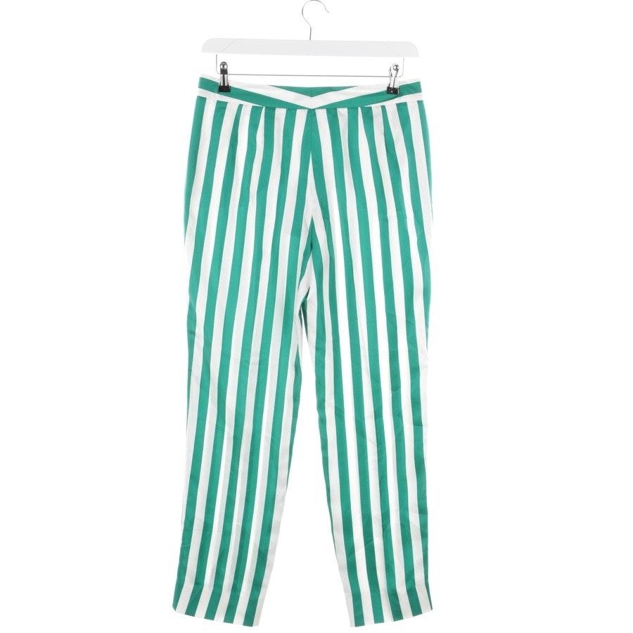 Seidenhose von Dolce & Gabbana in Weiß und Grün Gr. 38 IT 44 - Neu