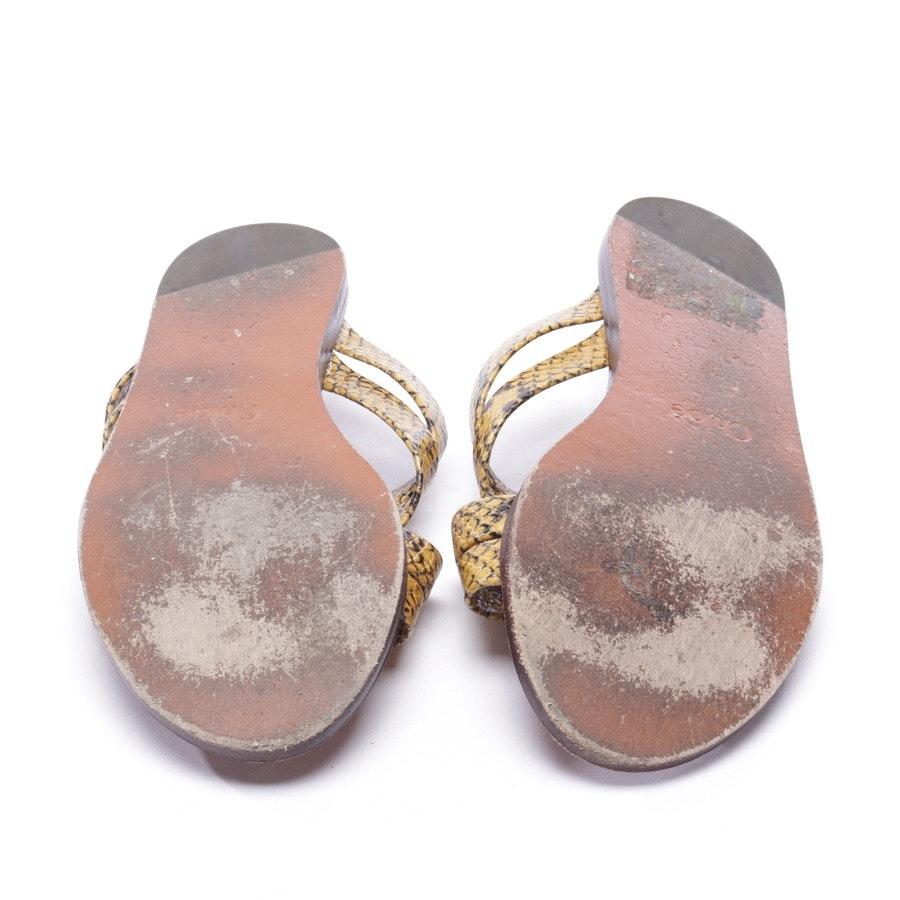 Sandalen von Chloé in Senfgelb und Schwarz Gr. EUR 37