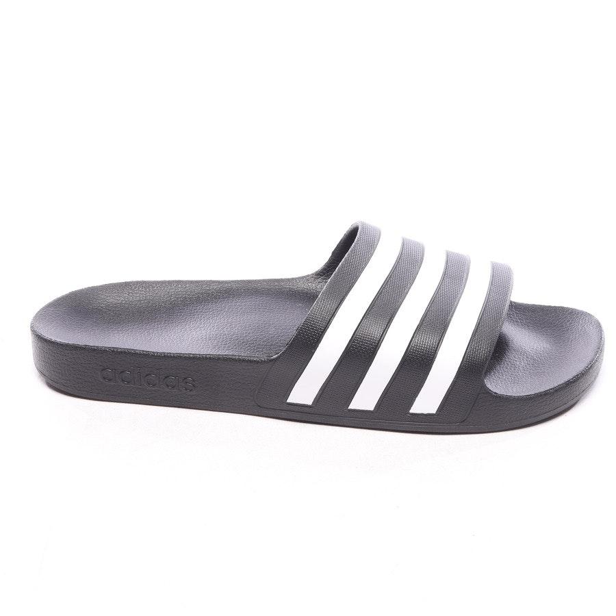 Pantoletten von Adidas in Schwarz und Weiß Gr. EUR 46 - Neu
