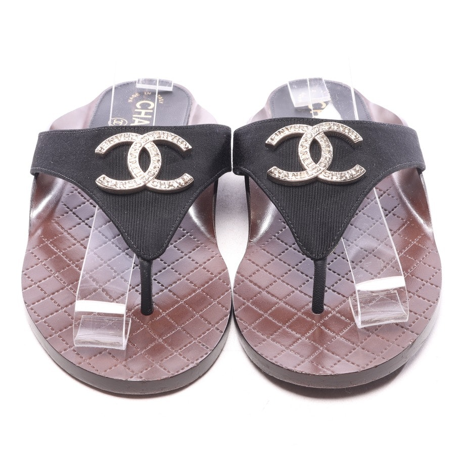 flat sandals from Chanel in black size EUR 38