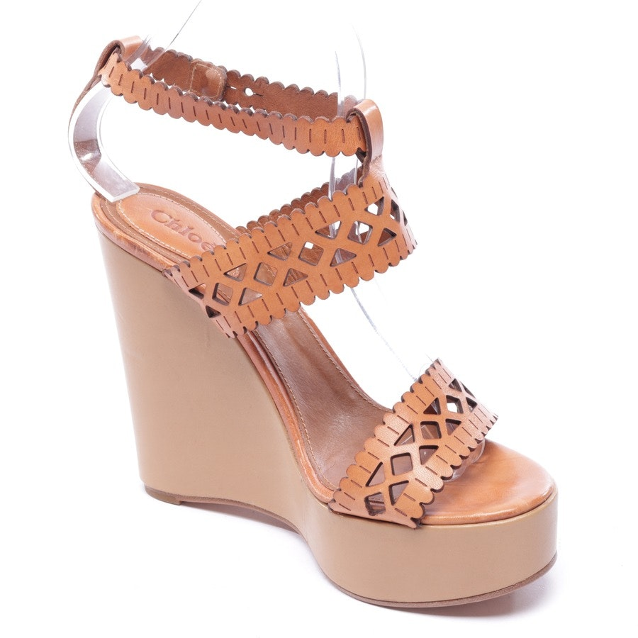 Wedges von Chloé in Cognac Gr. EUR 38,5
