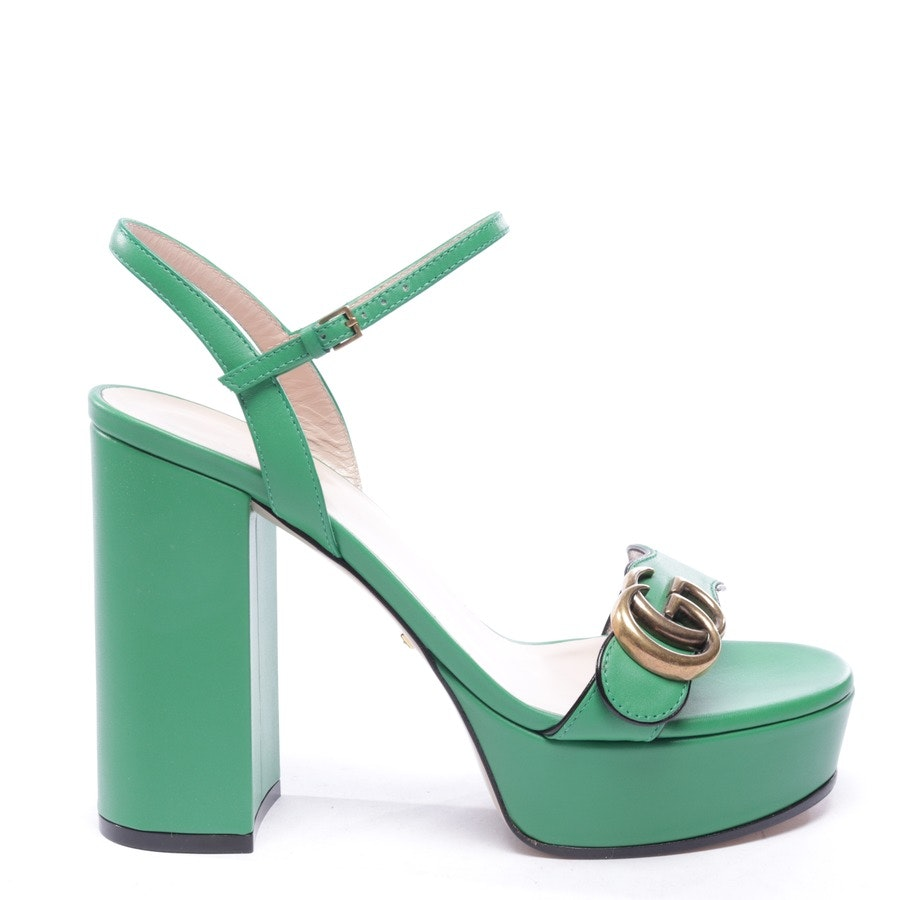 heeled sandals from Gucci in apple green size EUR 37,5 - new