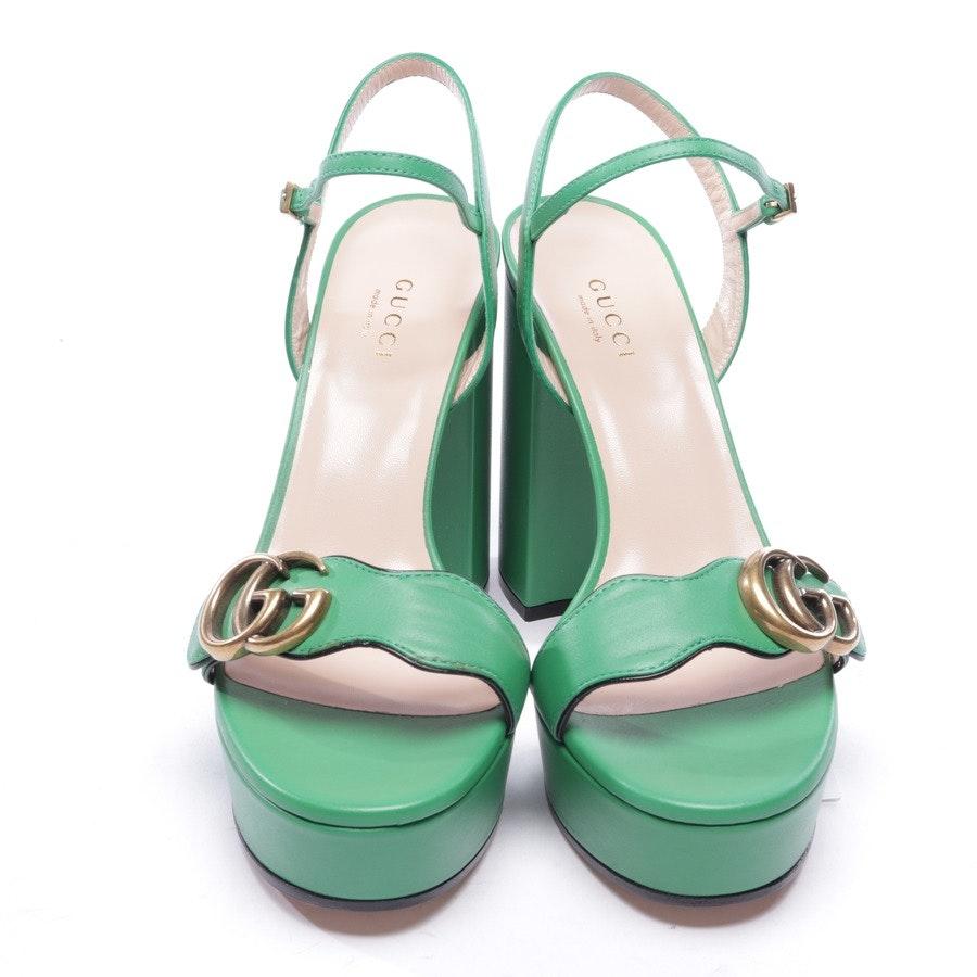 Sandaletten von Gucci in Apfelgrün Gr. EUR 37,5 - Neu