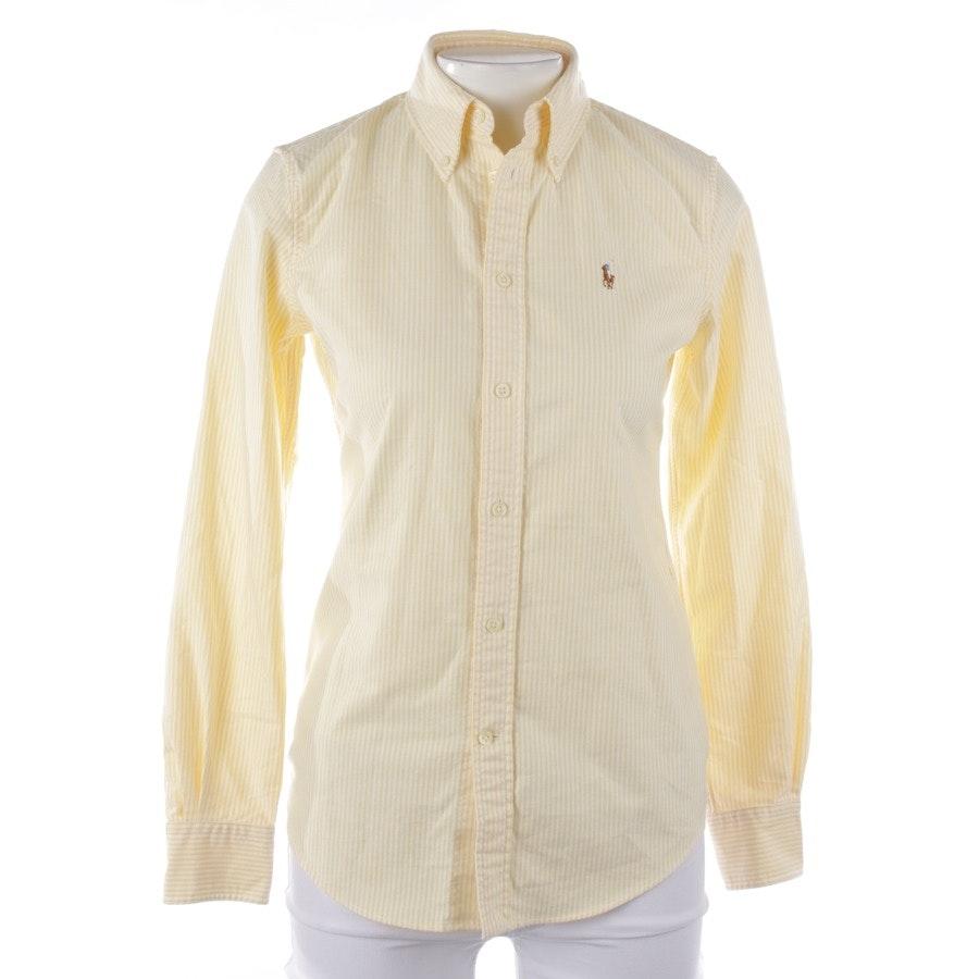 Bluse von Polo Ralph Lauren in Gelb und Weiß Gr. XS