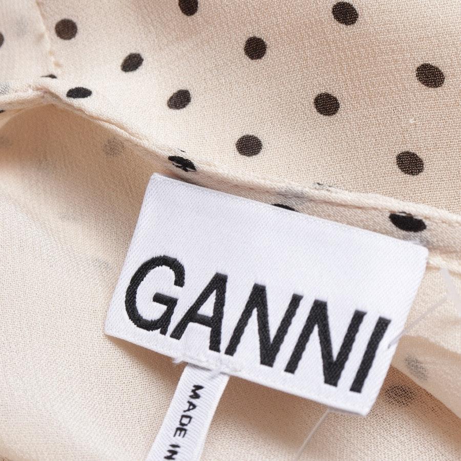 Sommerkleid von Ganni in Puder und Schwarz Gr. 40 FR 42