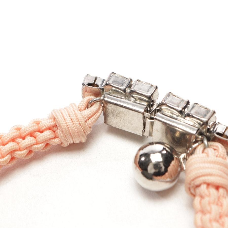 Armband von Shourouk in Lachsrosa und Silber