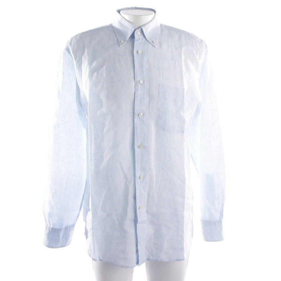 casual shirt from Van Laack in light blue and white size L