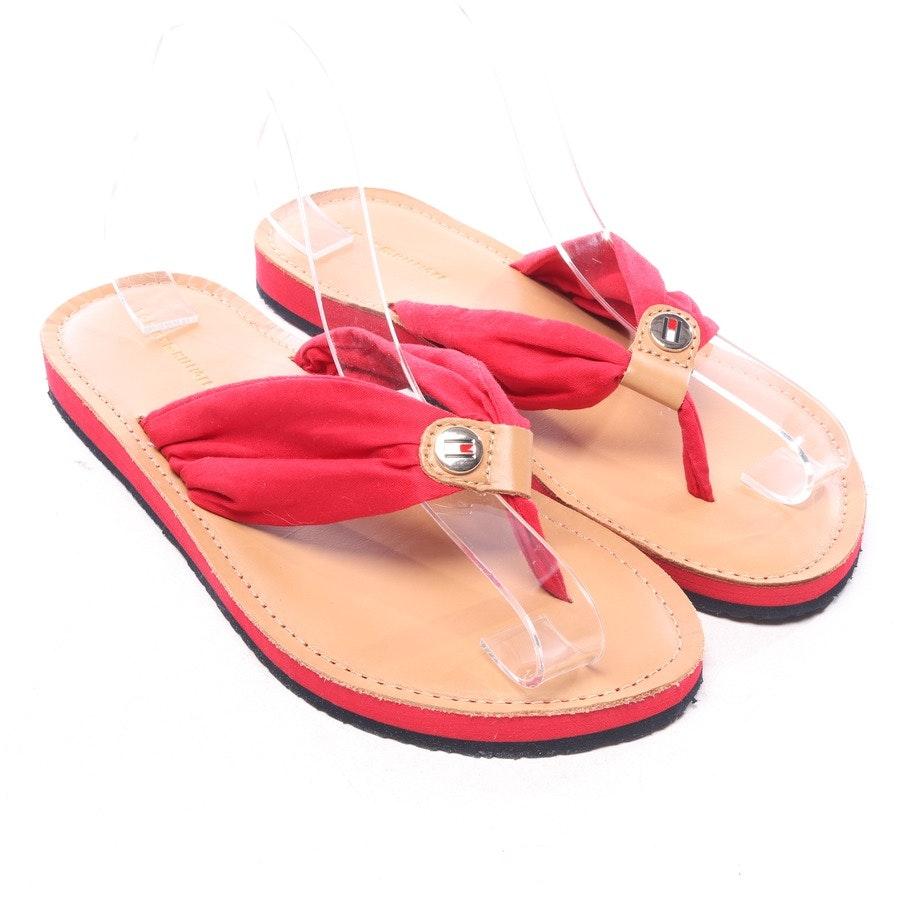 Sandalen von Tommy Hilfiger in Camel und Rot Gr. EUR 40 - Neu