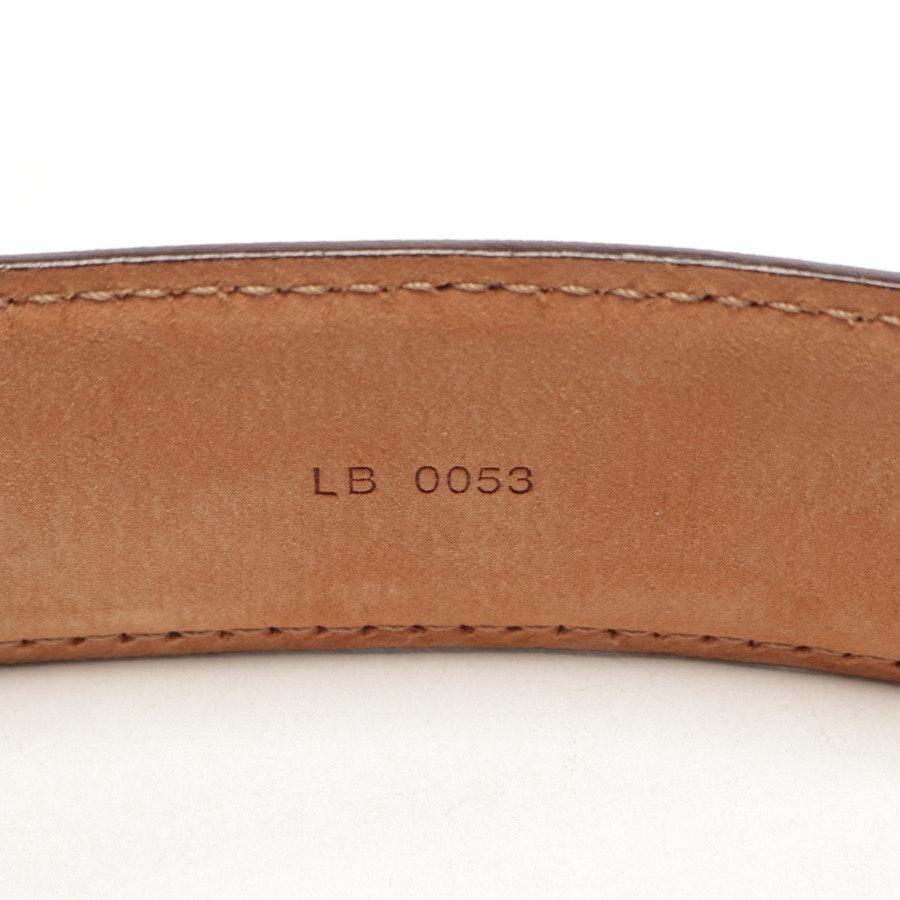 Gürtel von Louis Vuitton in Dunkelbraun Gr. 110 cm
