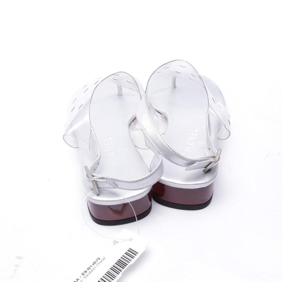 Sandalen von Chanel in Silber Gr. EUR 40 - Neu
