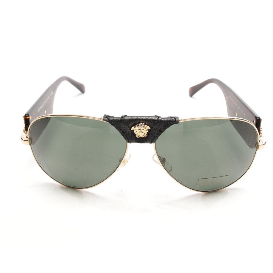 Sonnenbrille von Versace in Braun und Gold - 2150-Q