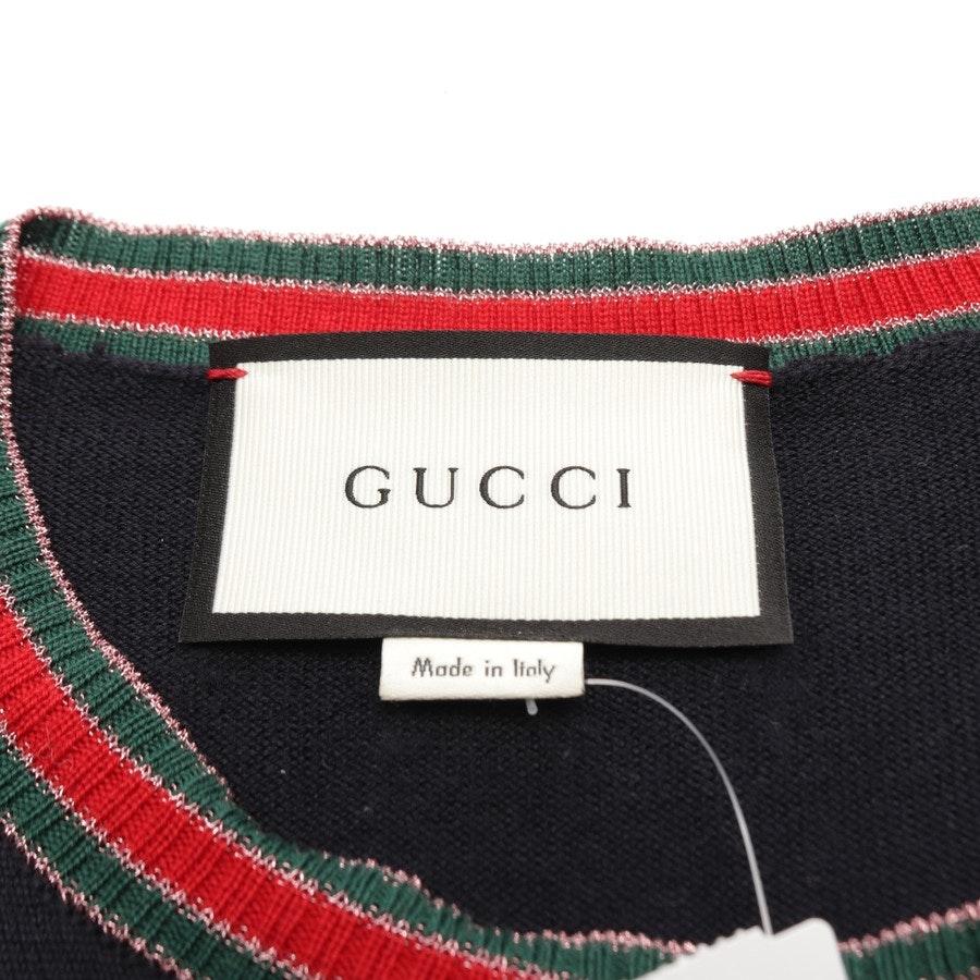 Wollpullover von Gucci in Nachtblau und Grün Gr. M