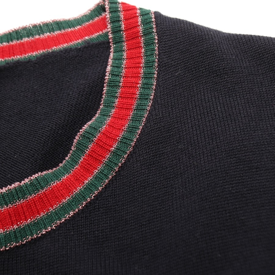 knitwear from Gucci in night blue and green size M