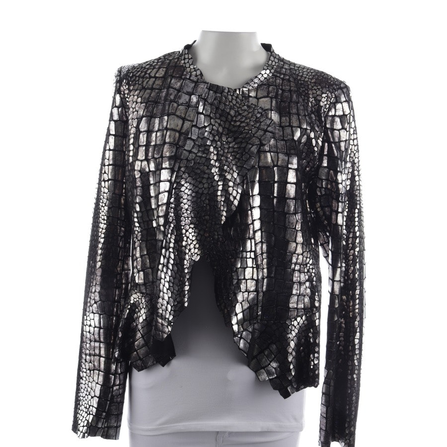 leather jacket from Isabel Marant in black and silver size 36 FR 38