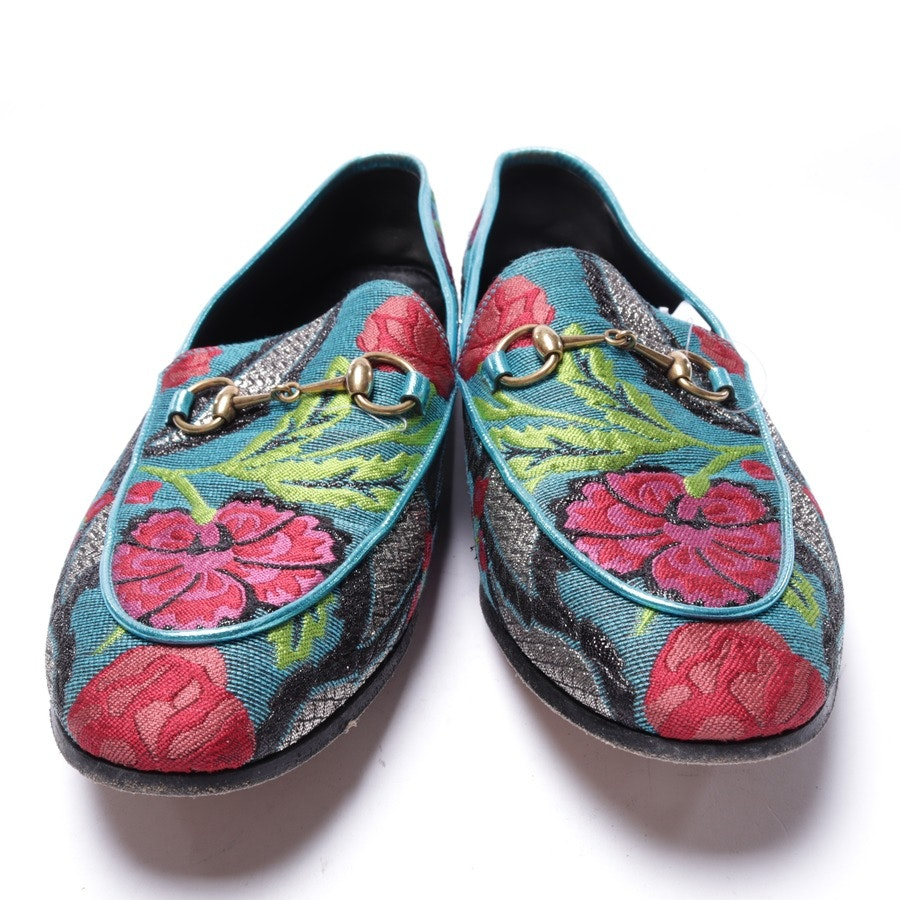 loafers from Gucci in petrol and multi-coloured size EUR 40