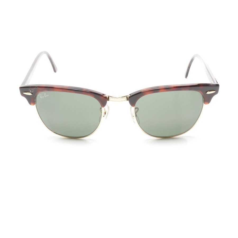 sunglasses from Ray Ban in brown and gold - rb 3016 clubmaster