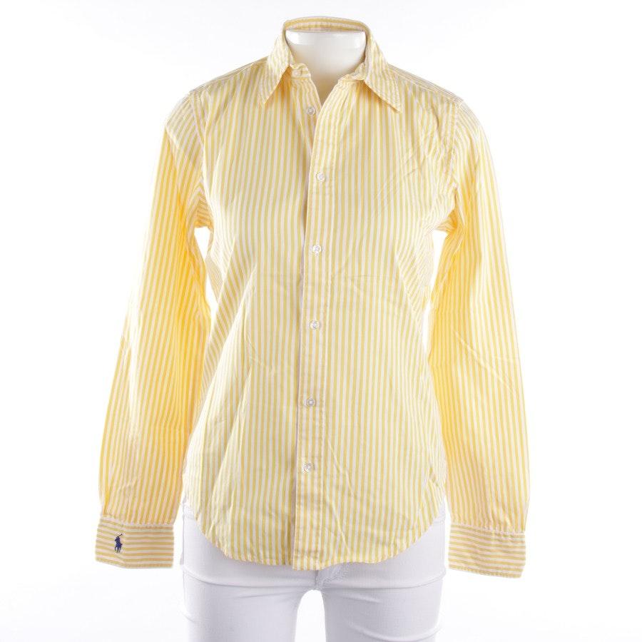 Bluse von Polo Ralph Lauren in Gelb und Weiß Gr. 36 US 6