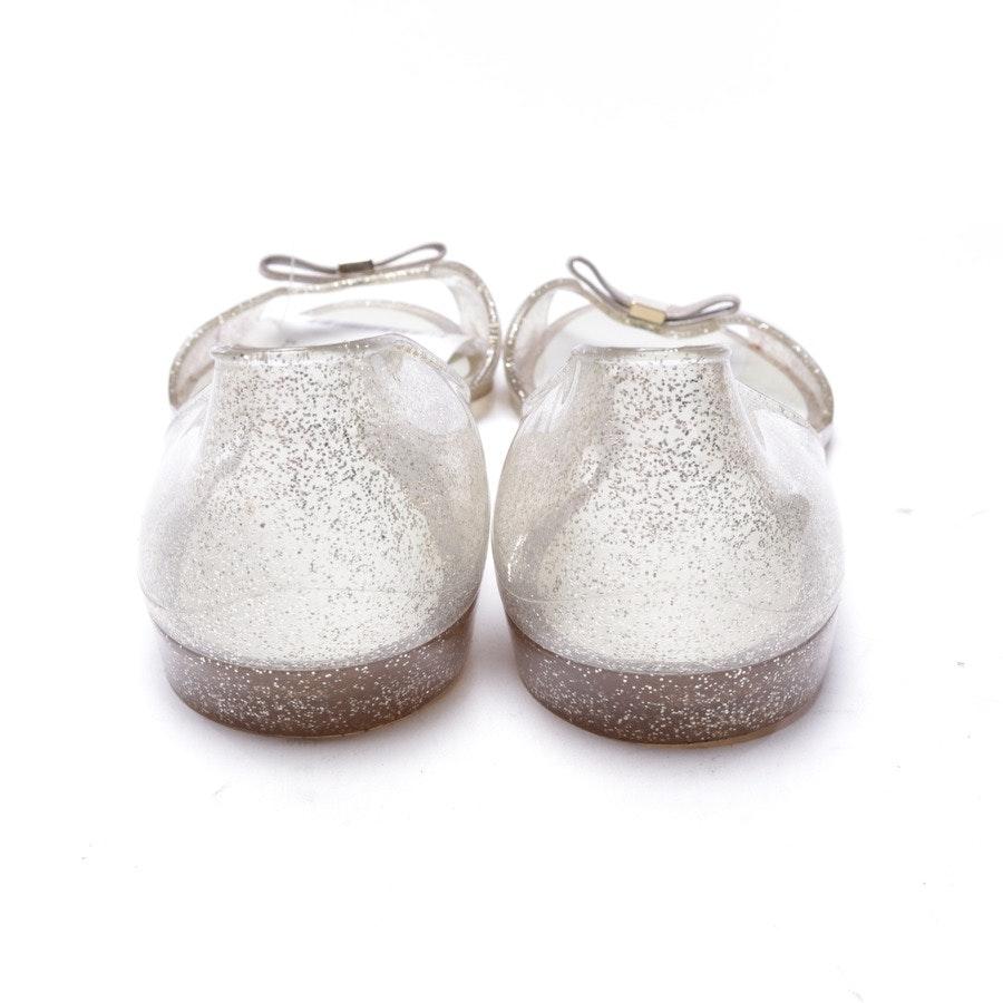 Sandalen von Furla in Transparent und Silber Gr. EUR 39