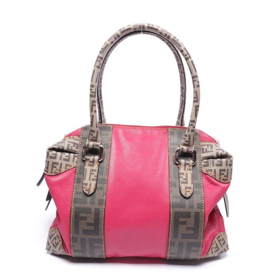 Handtasche von Fendi in Pink und Braun - Tobacco Zucca