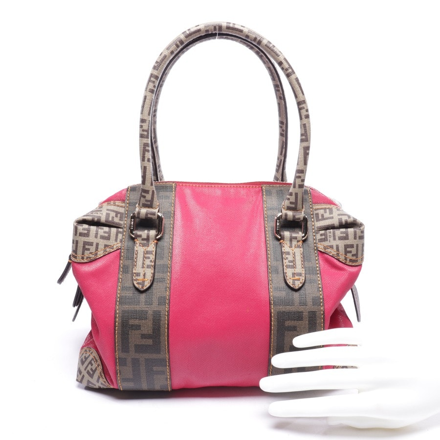 handbag from Fendi in pink and brown - tobacco zucca