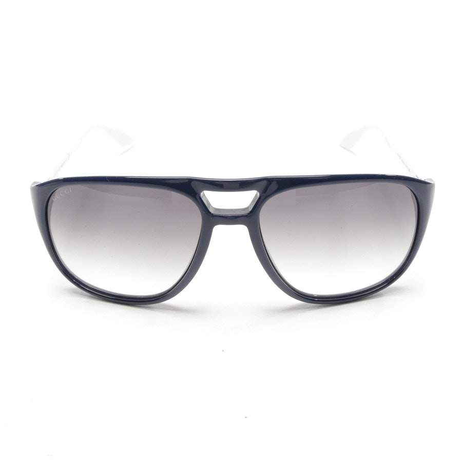 Sonnenbrille von Gucci in Dunkelblau und Weiß - GG 1018/S