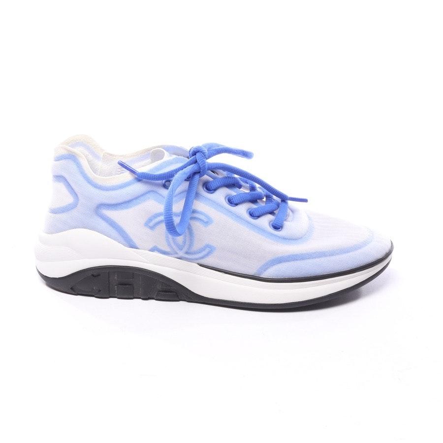Sneakers von Chanel in Hellblau und Weiß Gr. EUR 39,5