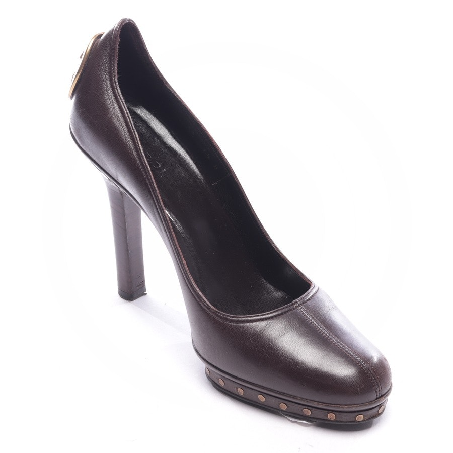 pumps from Gucci in brown size D 40,5 UK 8,5
