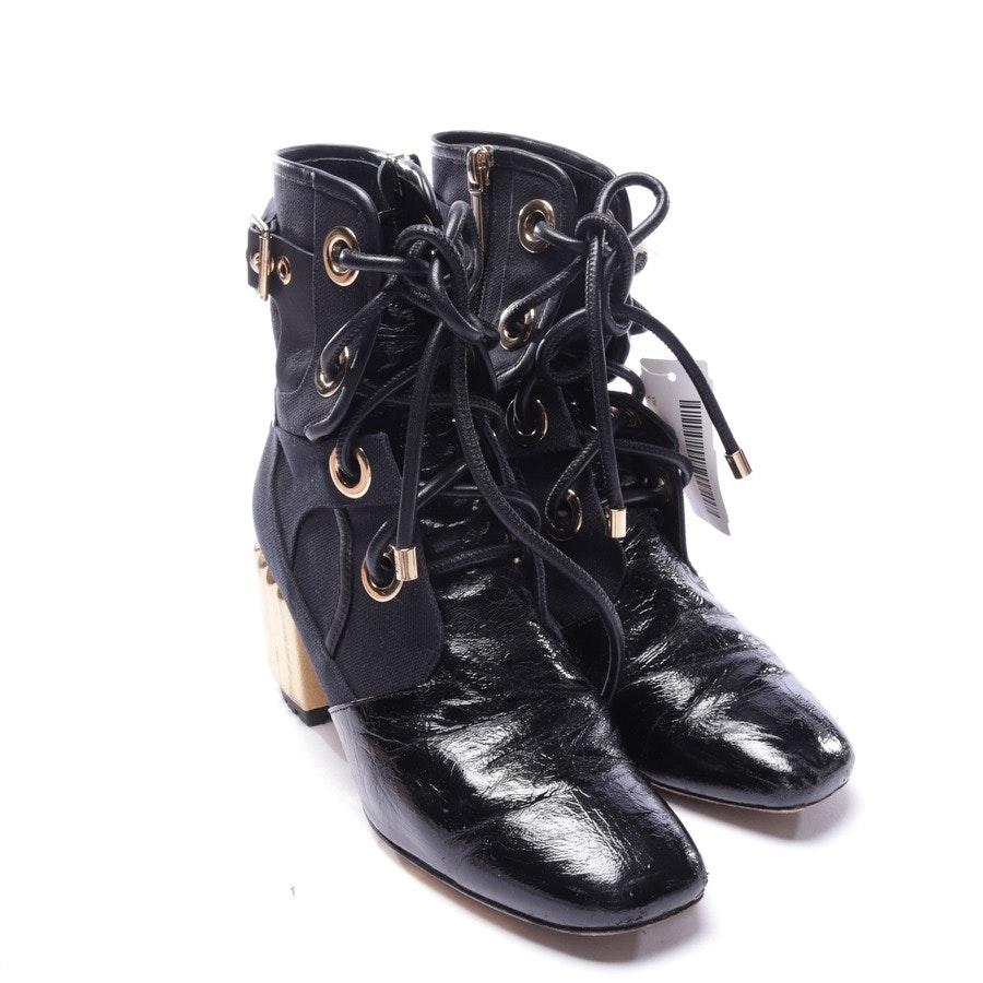 Stiefeletten von Dior in Schwarz und Gold Gr. EUR 36