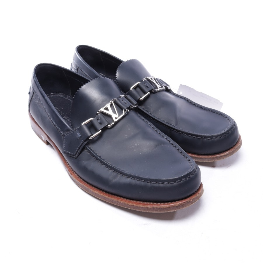 loafers from Louis Vuitton in dark blue and brown size EUR 41,5 UK 7,5