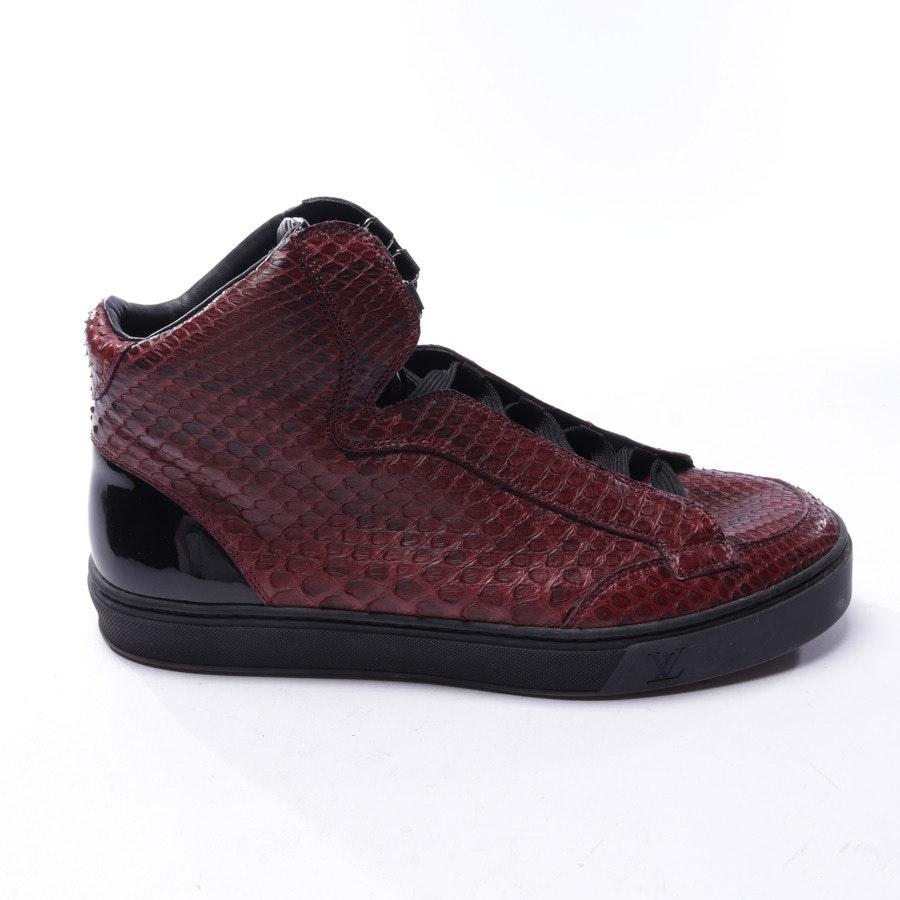 Sneaker von Louis Vuitton in Weinrot und Schwarz Gr. EUR 42 UK 8