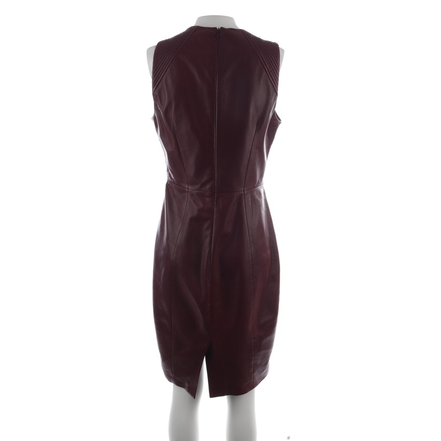 Lederkleid von Hugo Boss Black Label in Aubergine Gr. 36