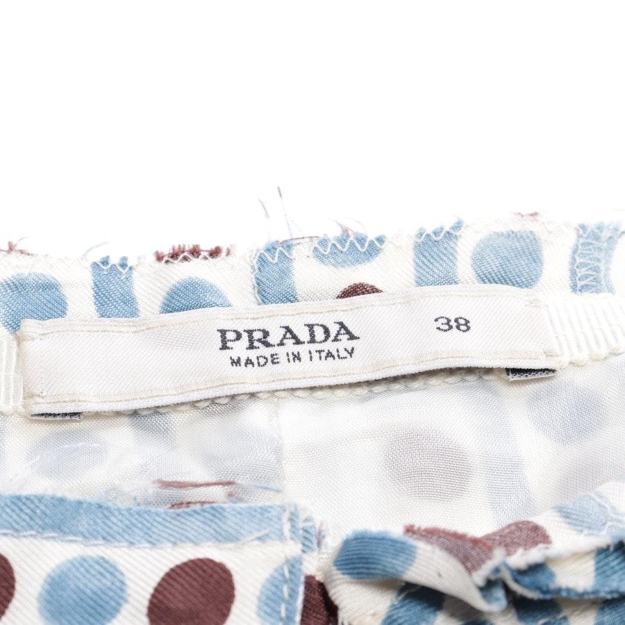 Seidenrock von Prada in Cremeweiß und Multicolor Gr. 32 IT 38