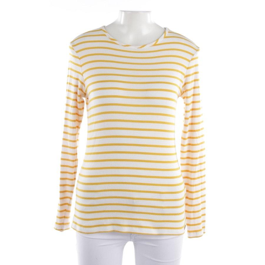 Langarmshirt von Hugo Boss Orange in Gelb und Weiß Gr. S - Tafi